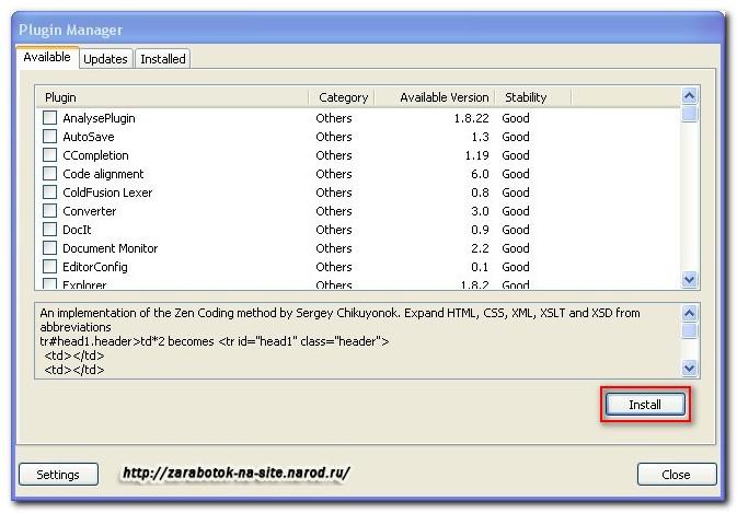 Install Notepad Plugins